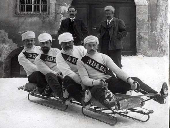 Швейцарские бобслеисты в 1901 году