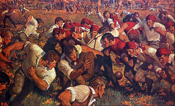 История возникновения американского футбола