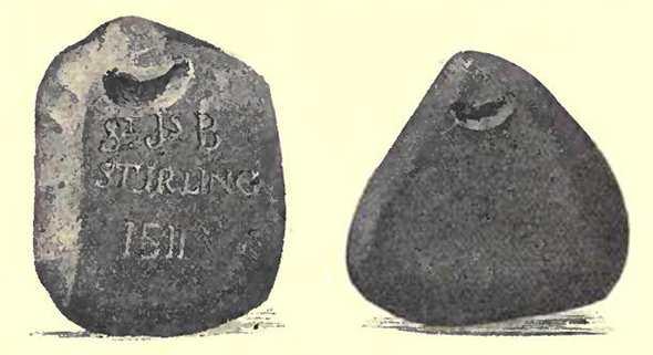 Древний камень для игры в керлинг